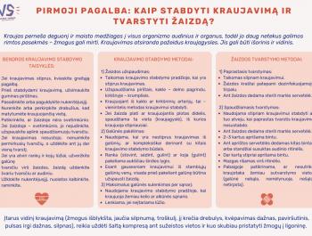 Netyčiniai sužalojimaiyra viena didžiausių grėsmių Lietuvos vaikų sveikatai ir gyvybei